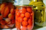 Pickled tomatoes cucumbers in