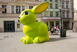 BIG green easter BUNNY