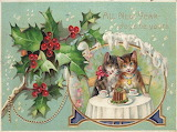 Vintage New Year Cats
