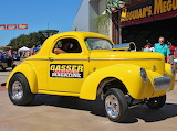 Willys gasser drag car