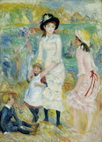 Renoir, Children on the Seashore, Guernsey, ca 1883