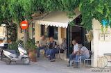 Relaxing outside kafenion in Kritsa