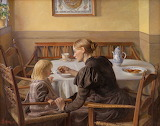 Mother and Daughter. Fritz Syberg 1898-1899