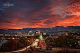 Fall sunrise Boise Idaho