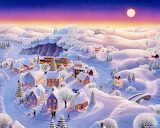 Snow Covered Village - Robin Moline