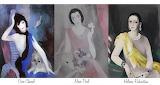 Marie Laurencin, 3 portraits, 1930's