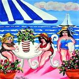 Drinks on the Beach by Renie Britenbucher