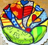 Britto heart cake