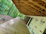 Roof Joists, Wall Framing, Porch Deck, and Forest