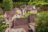 Rooftops in Saint-Cirq-Lapopie, France