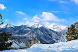 Winter Scene in Mountains Buena Vista Colorado USA