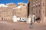 Man walking on the streets of Shibam Yemen