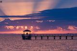 Purple skies sunset Mississippi coast