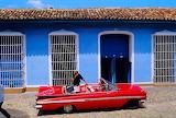 classic red car