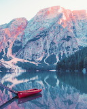 Mountain and Boat