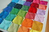 a rainbow of granny squares