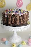Chocolate bunny cake