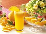 Naranja y jugo de naranja