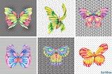 Collage 299 watercolor butterflies