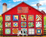 Colours-colorful-barn-quilts-painting-Jigsaw Puzzle
