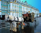 Carriage with horses at the Hermitage