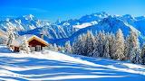 Cottage, snowland
