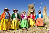 Peru women in colorful clothing