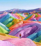 Rainbow Mountains , Peru