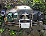 Recycled Car into Mail Boxes