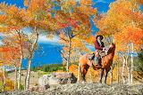 Horseback rider admiring the view