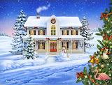 Christmas Cottage by Anne Wertheim...