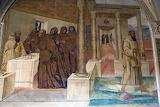 Abbazia Monte Oliveto Magg.re Siena affresco Sodoma 10 bicchiere
