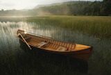 Adirondack canoe Connery Pond Lake Placid New York sunrise