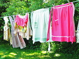 ^ Vintage aprons on the clothesline