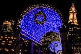 Boston Blue Holiday Lights on Trellis
