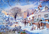 A Village in Winter - Steve Crisp