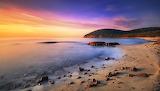 Sunset, cala violina, bay, beach, sea, tuscan maremma, Italy