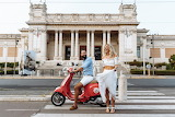 By scooter through Rome