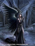 fallen angel and skulls