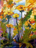 Dandelions--Butterflies-Oil-Painting-by-Ginette_art