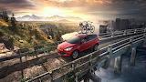 Landscape, Red Car