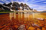 Sierra Nevada Mountains, oil painting