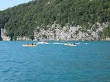 Canoë sur le lac d' Annecy