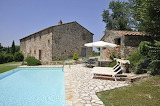 Old stone villa and pool in Tuscany