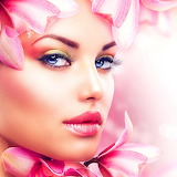 Beautiful Girl With Orchid Flowers...