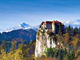 Snow Topped Mountains & Koper Castle Slovenia