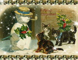 Christmas Vintage Cats