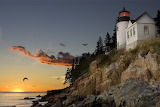 Bar harbour maine usa lighthouse