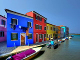 Colorful houses, Burano Italy