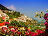 Amalfi-coast-italy-country-village-flowers-sea-ocean-city-houses